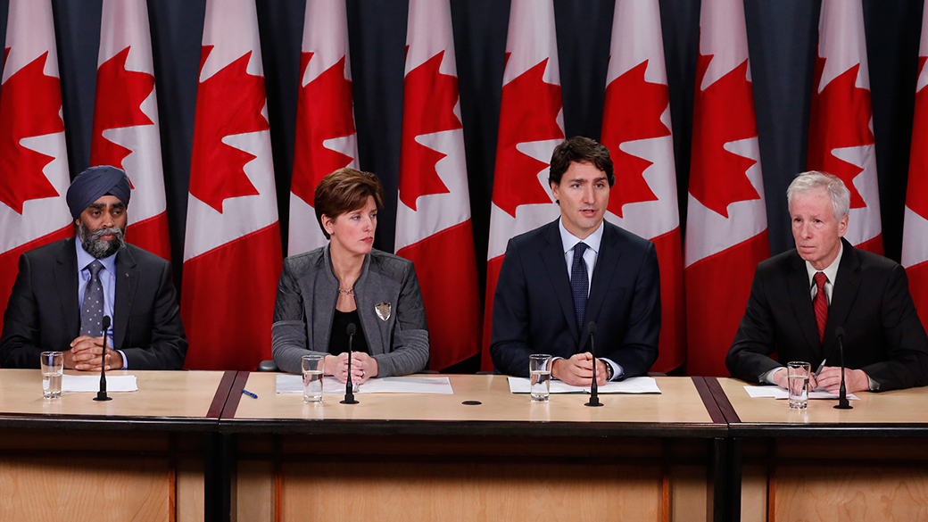 Prime Minister Justin Trudeau sets new course to address crises in Iraq and Syria and impacts on the region