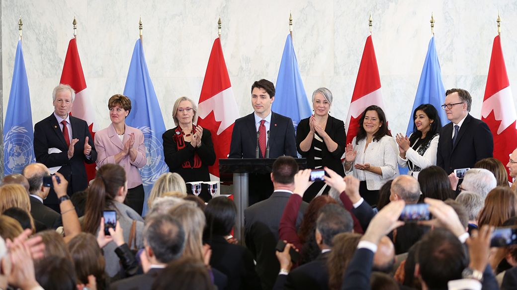 Prime Minister announces Canada's bid for a non-permanent seat on the United Nations Security Council