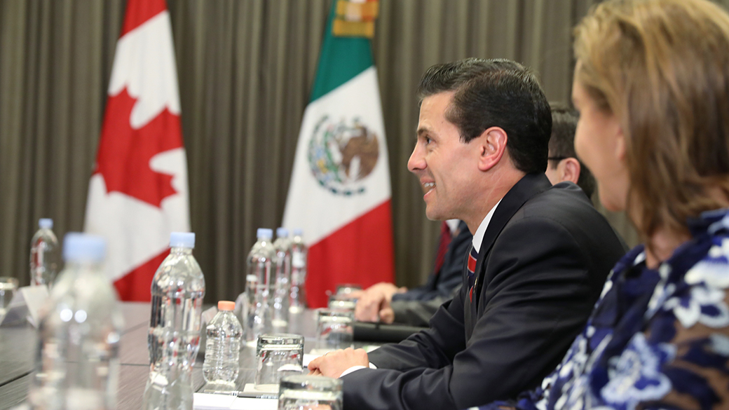 Prime Minister Justin Trudeau meets with ‎Enrique Peña Nieto, President of Mexico