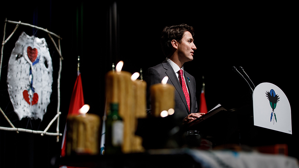Prime Minister Justin Trudeau apologizes on behalf of the Government of Canada to former students of the Newfoundland and Labrador residential schools