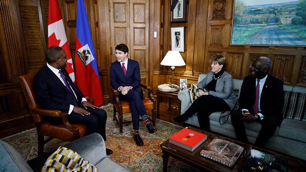 PM Trudeau meets with PM Céant of Haiti