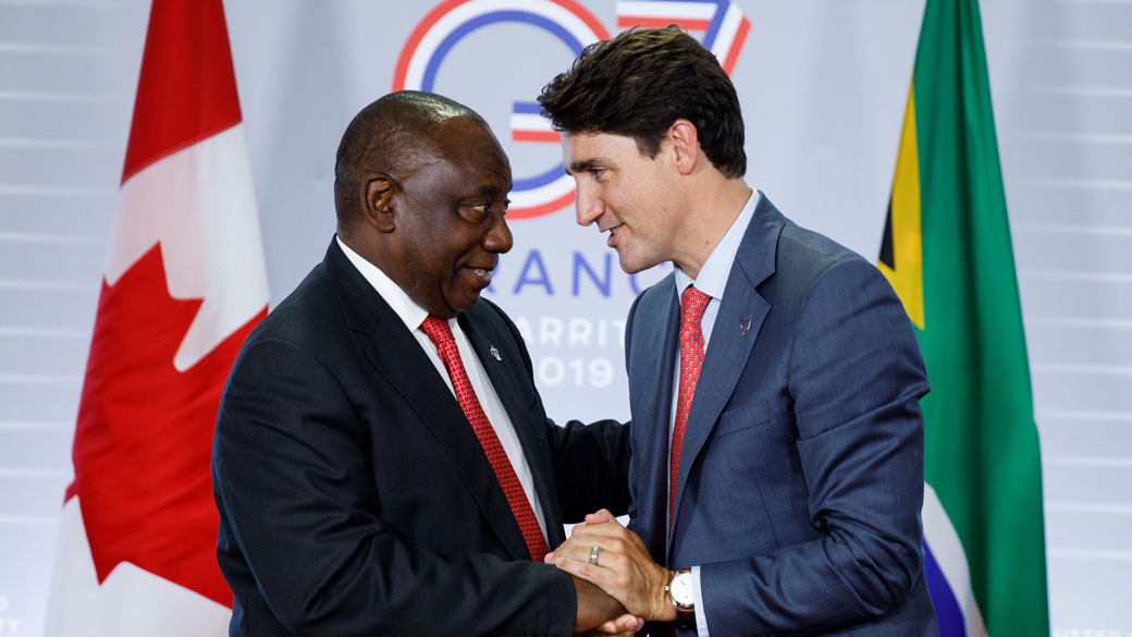 PM Trudeau meets with the President Cyril Ramaphosa