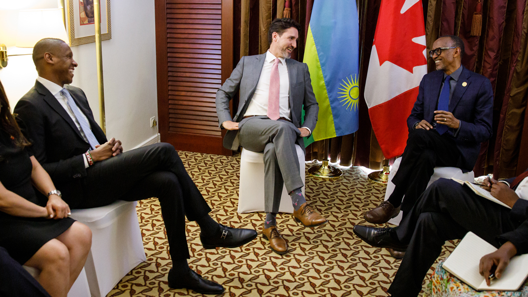 Prime Minister Justin Trudeau meets with President of Rwanda Paul Kagame