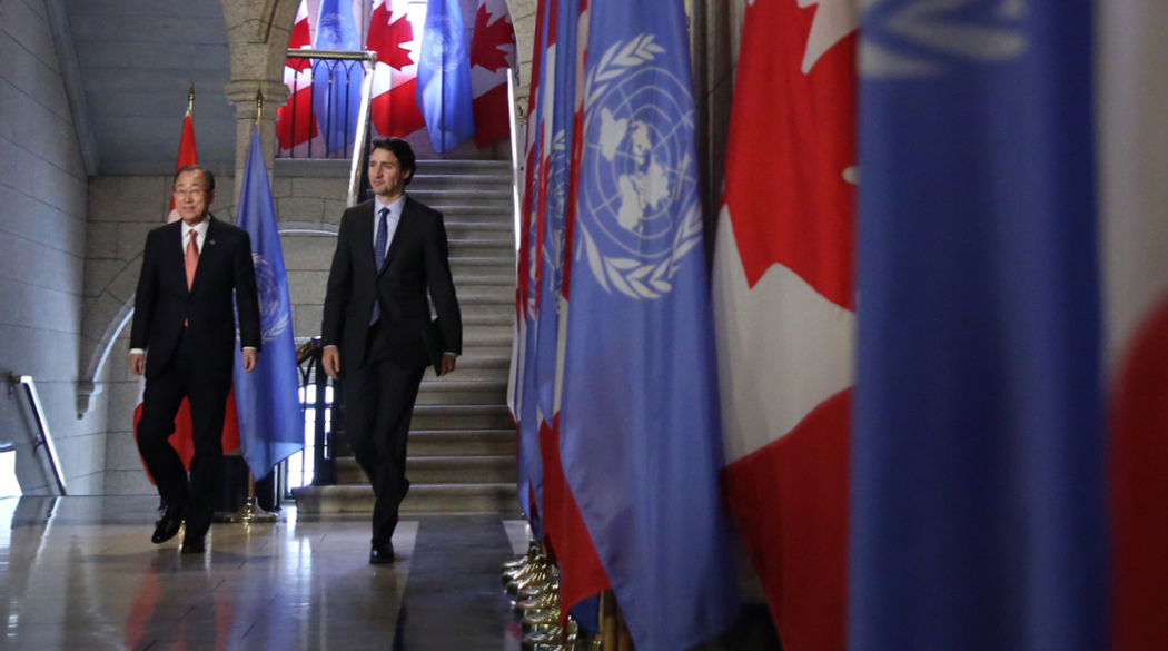 Prime Minister Justin Trudeau meets with United Nations Secretary-General Ban Ki-moon