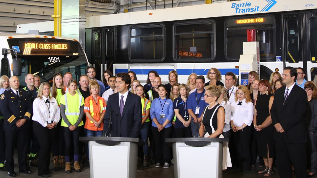 The Prime Minister of Canada and the Premier of Ontario announce agreement under new federal infrastructure funding program