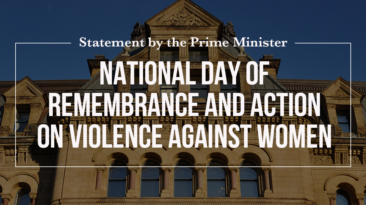 Statement by the Prime Minister on the National Day of Remembrance and Action on Violence Against Women