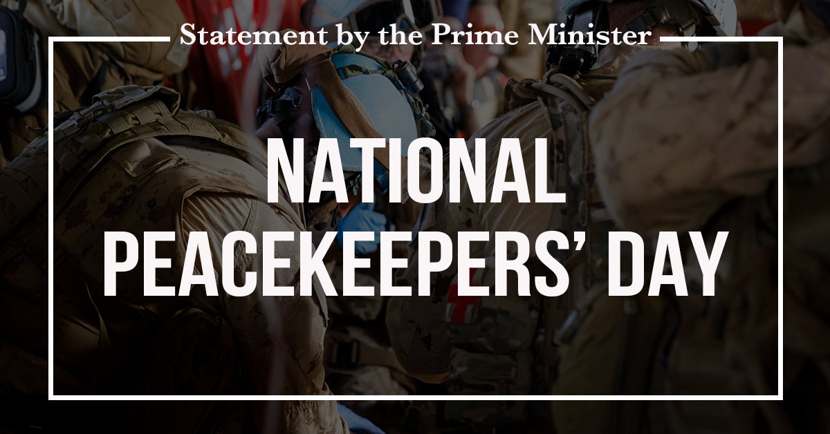 Statement by the Prime Minister on National Peacekeepers' Day