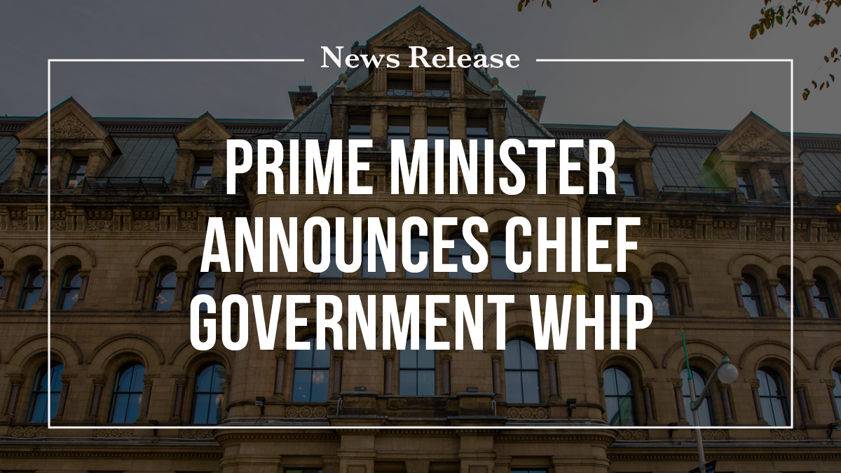 Prime Minister announces Chief Government Whip