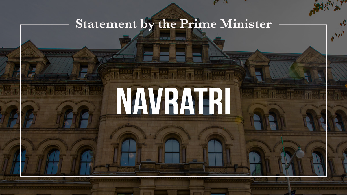 Statement by the Prime Minister on Navratri