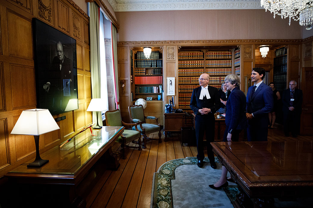 Prime minister justin trudeau and the prime minister of the united kingdom theresa may are - Office of prime minister uk ...