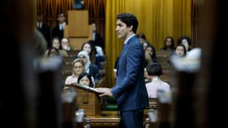 PM Trudeau speaks in the House of Commons