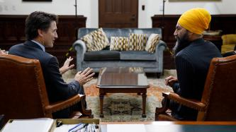 PM Trudeau meets with Jagmeet Singh