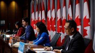PM Trudeau speaks to the media