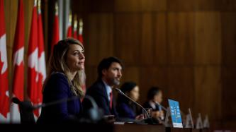 PM Trudeau, Minister Joly, Doctor Tam and Doctor Njoo speak with media